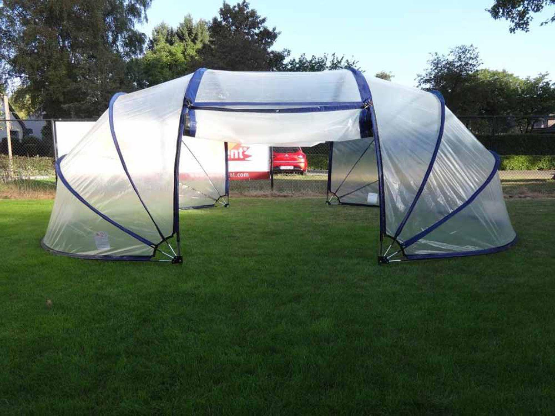sunnytent poolabdeckung oval m 6 50m pooldach f r planschbecken sunny tent neu ebay. Black Bedroom Furniture Sets. Home Design Ideas