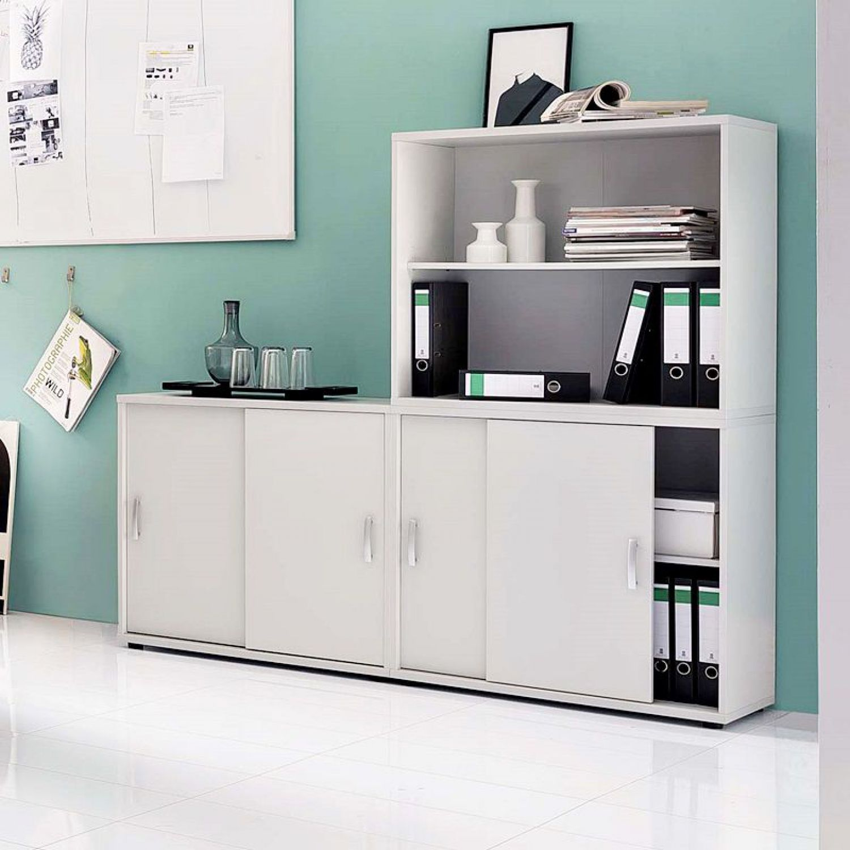 Büromöbel Aktenschrank & Aktenregal Set grau Büroeinrichtung ...