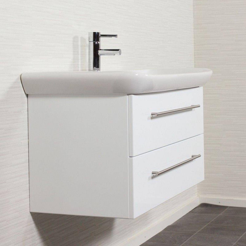 Badezimmermöbel Keramag 100cm Waschtisch mit Unterschrank Hochglanz Badmöbel Set   eBay
