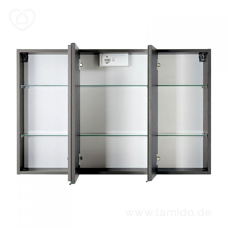 badezimmer spiegelschrank 100cm led graphitgrau badspiegel badezimmerschrank ebay. Black Bedroom Furniture Sets. Home Design Ideas