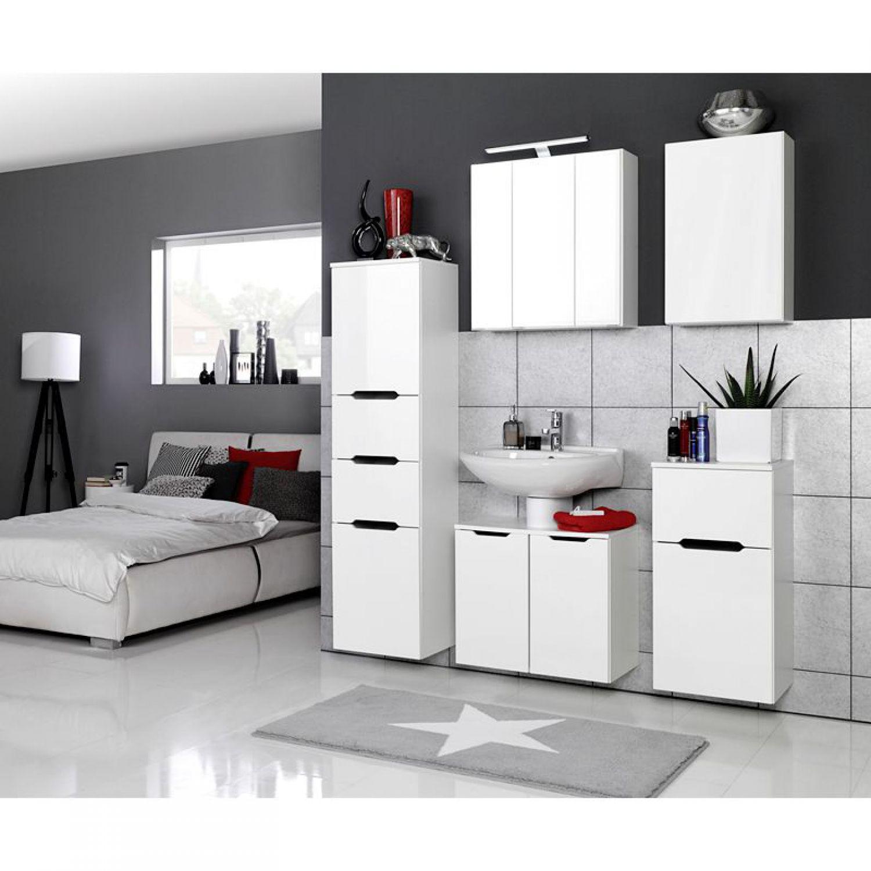 badezimmerm bel h ngeschrank hochglanz wei badm bel wandschrank badschrank. Black Bedroom Furniture Sets. Home Design Ideas