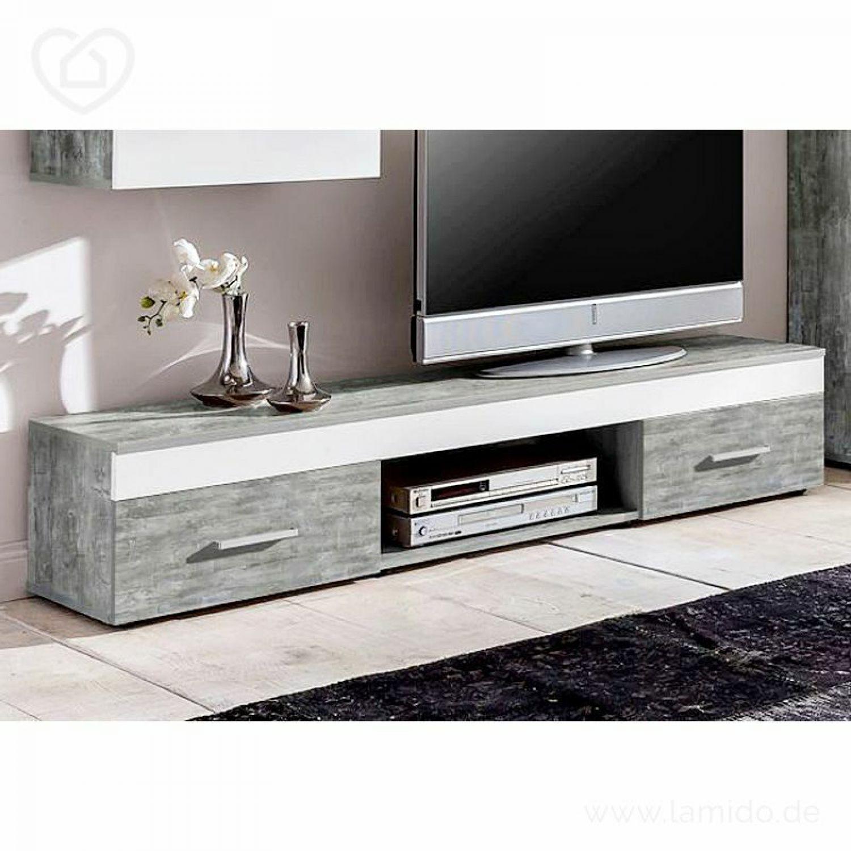 wohnwand beton wei anbauwand wohnzimmer tv fernsehschrank jugendzimmer vitrine ebay. Black Bedroom Furniture Sets. Home Design Ideas