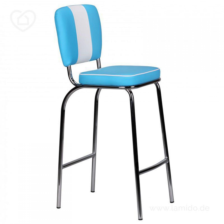 retro barhocker american diner blau wei thekenstuhl. Black Bedroom Furniture Sets. Home Design Ideas