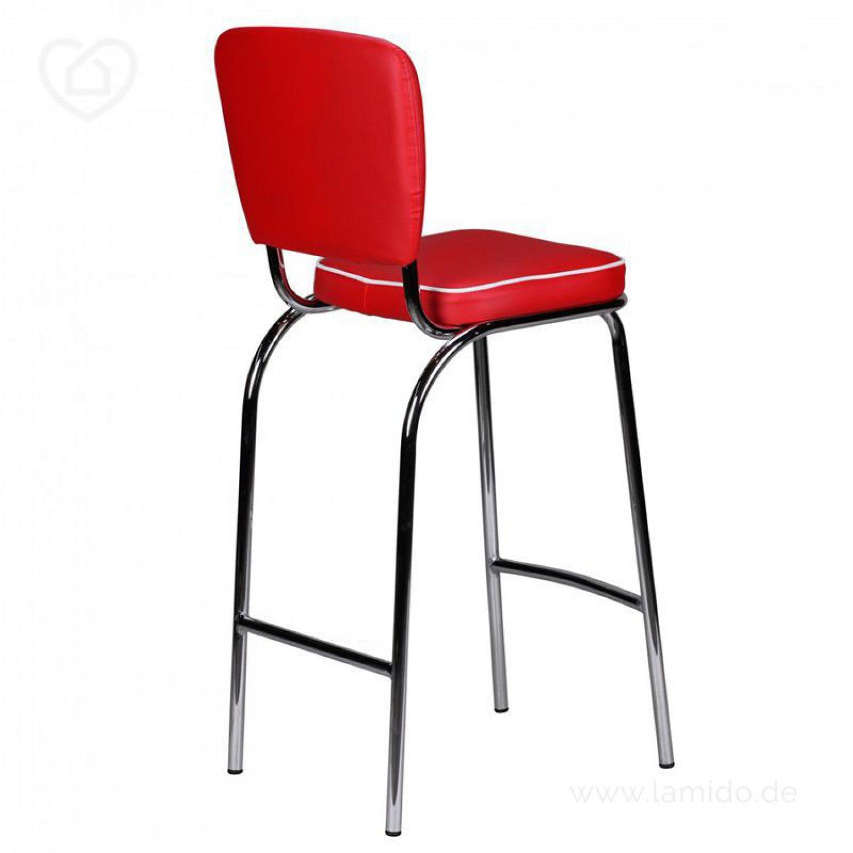 retro barhocker american diner 50er jahre rot wei. Black Bedroom Furniture Sets. Home Design Ideas