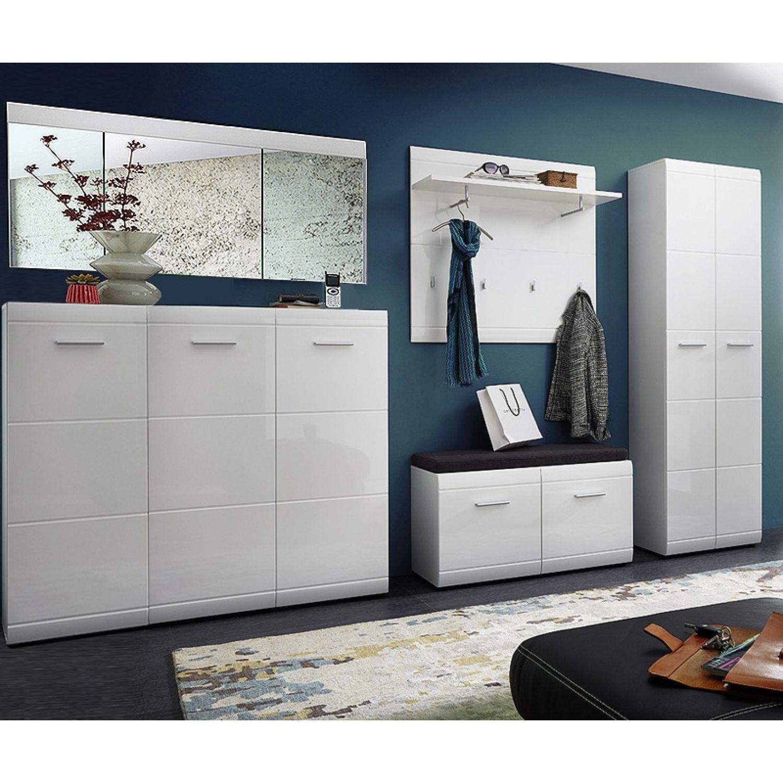 garderoben set hochglanz schuhschrank spiegel flurm bel garderobenschrank diele ebay. Black Bedroom Furniture Sets. Home Design Ideas