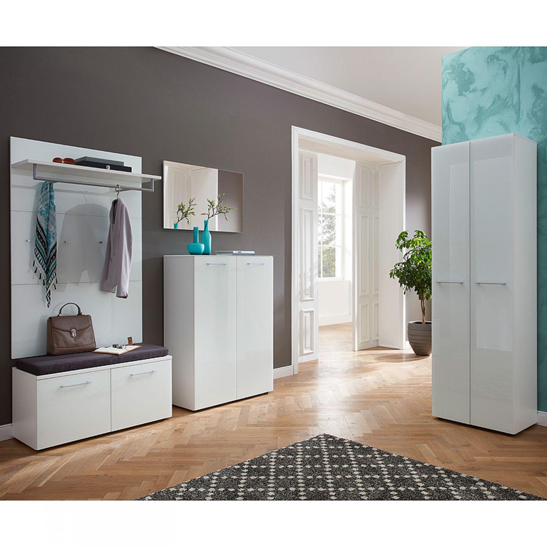 Wunderschön Garderobenschrank Groß Das Beste Von Orlando-01, Glasfront Weiß, B X H X