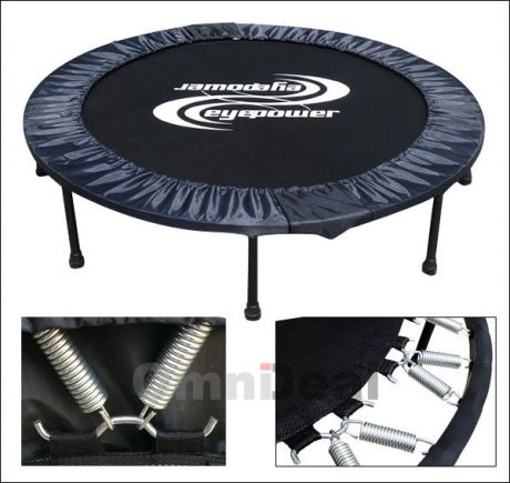 faltbar 150 kg trampolin 140cm matte made in usa 8 beine. Black Bedroom Furniture Sets. Home Design Ideas