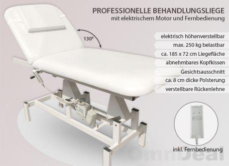 massageliege elektrisch kosmetikliege massagebank. Black Bedroom Furniture Sets. Home Design Ideas
