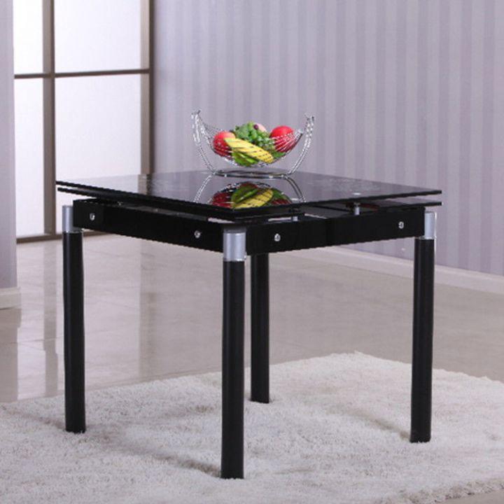 esstisch 80x80 k chentisch ausziehbar auf 120cm esszimmer tisch speisetisch ebay. Black Bedroom Furniture Sets. Home Design Ideas