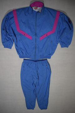 Details zu Triumph Sportswear Trainings Anzug Track Jump Suit Vintage 90s Nylon Karneval 38