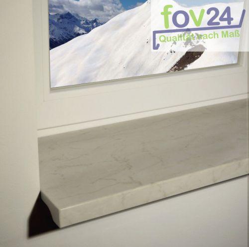 fensterbank innen werzalit exclusiv marmor bianco kunststoffabschluss zuschnitt ebay. Black Bedroom Furniture Sets. Home Design Ideas