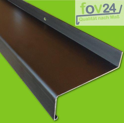 Fensterbank Aluminium dunkelbronze eloxiert C 34 braun Ausladung 50 ...