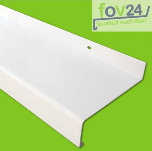 Fensterbank Aussen Aluminium weiß 50 - 225 mm inkl. Alu Abschluss ...