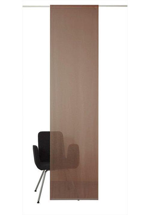 schiebevorhang braun klettband transparenter stoff verschiedene gr en ebay. Black Bedroom Furniture Sets. Home Design Ideas