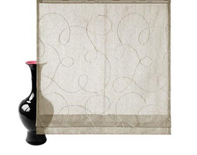 raffrollo sand klettband gardinenband transparenter stoff. Black Bedroom Furniture Sets. Home Design Ideas