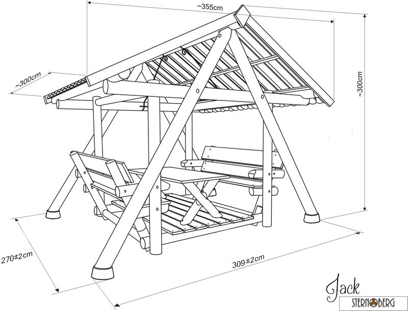 Garten Schaukel Jack Pavillon Hollywoodschaukel Grill Massiv Holz  FINNWERK   eBay