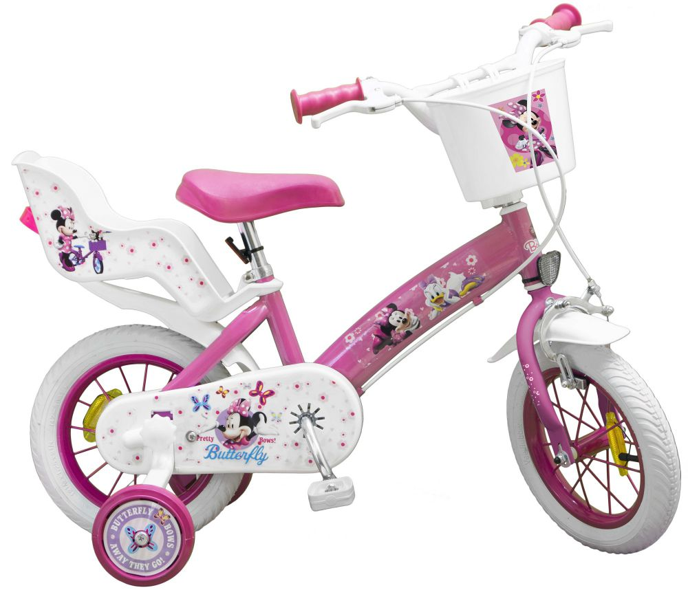 kinderfahrrad disney minnie mouse 12 zoll kinder m dchen. Black Bedroom Furniture Sets. Home Design Ideas