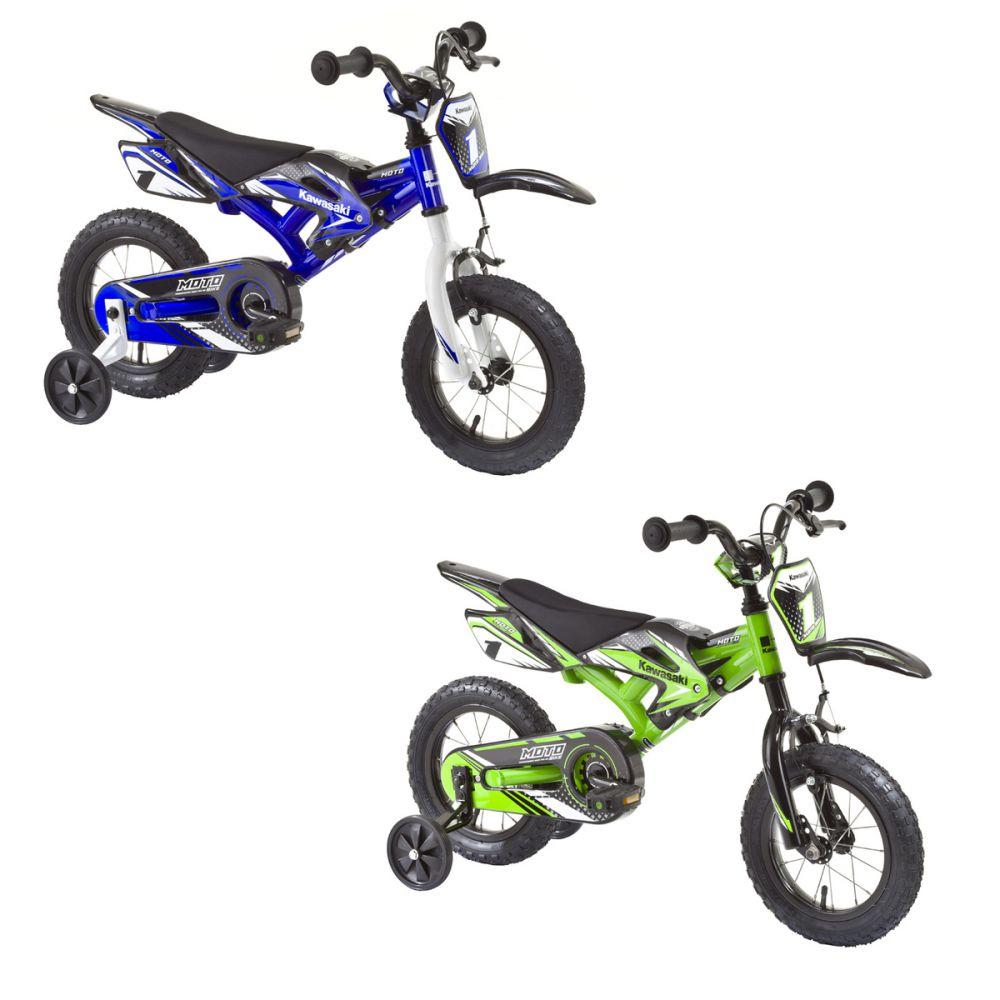 kinderfahrrad kawasaki moto12 zoll kinder fahrrad gr n o. Black Bedroom Furniture Sets. Home Design Ideas