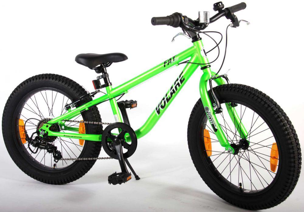 kinderfahrrad volare fat bike 20 zoll gr n fatbike mountainbike 7 gang shimano. Black Bedroom Furniture Sets. Home Design Ideas