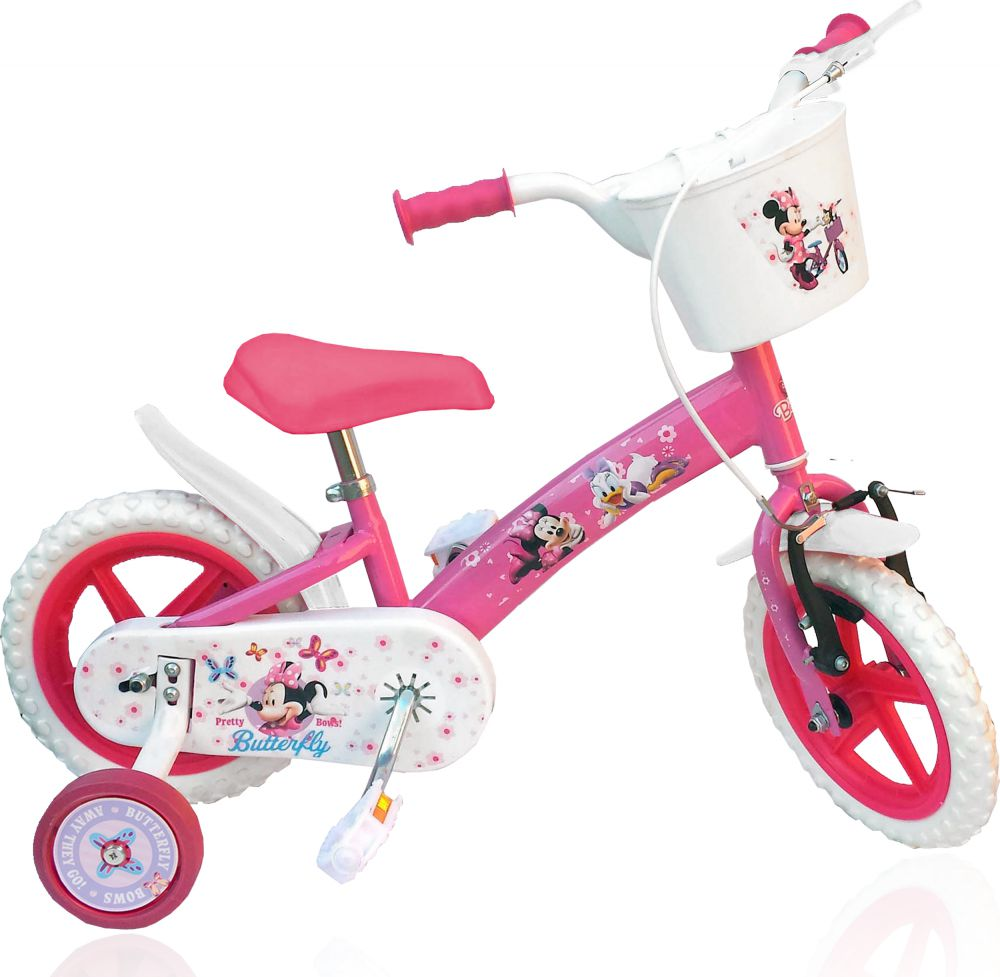 kinderfahrrad disney minnie mouse 12 zoll kinder fahrrad. Black Bedroom Furniture Sets. Home Design Ideas