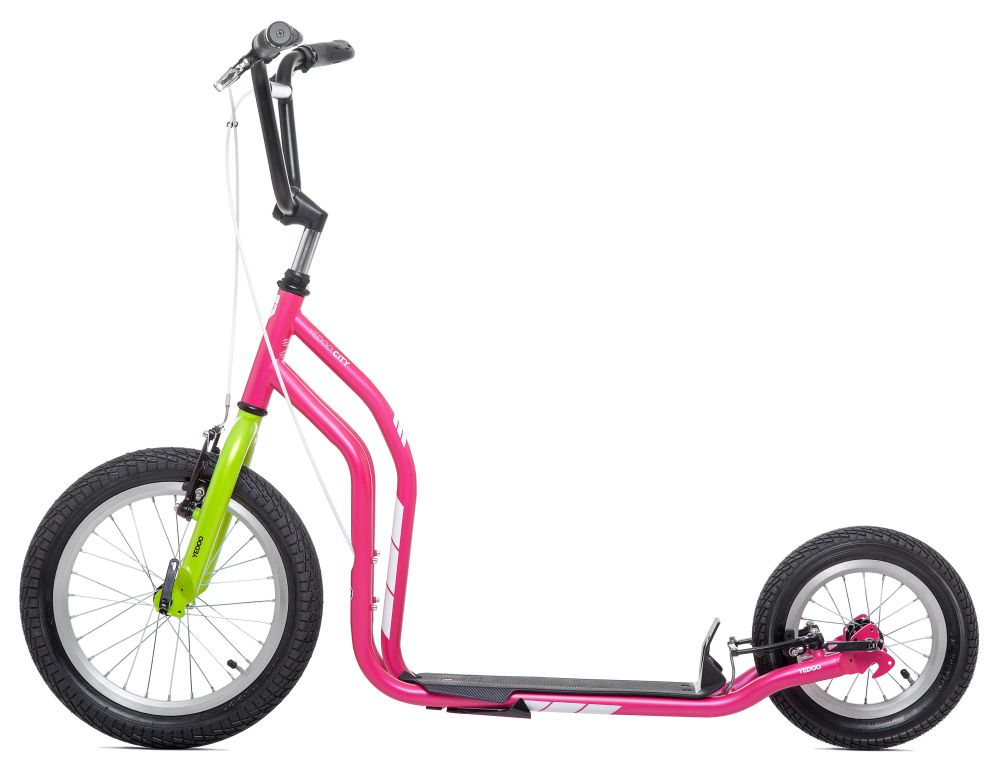 scooter tretroller yedoo city new 16 12 zoll magenta. Black Bedroom Furniture Sets. Home Design Ideas