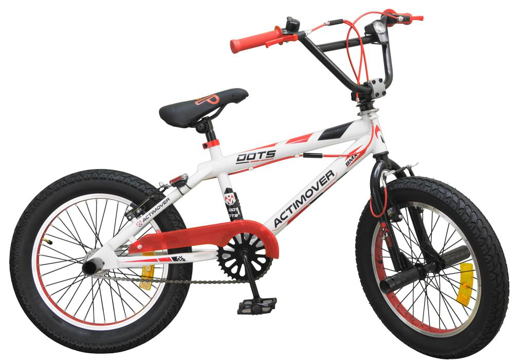 20 kinder bmx freestyle kids bike fahrrad weiss rot. Black Bedroom Furniture Sets. Home Design Ideas