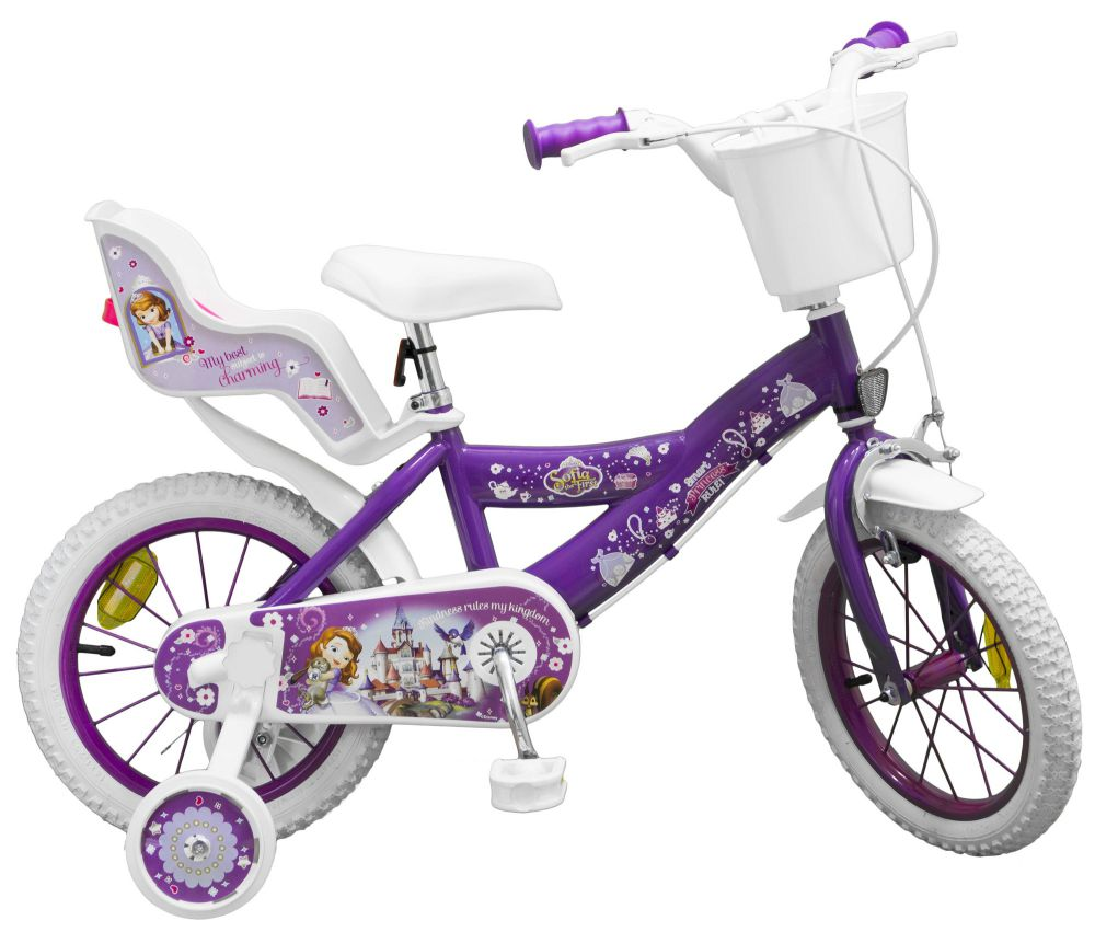 kinderfahrrad disney prinzessin sofia 14 zoll kinder. Black Bedroom Furniture Sets. Home Design Ideas