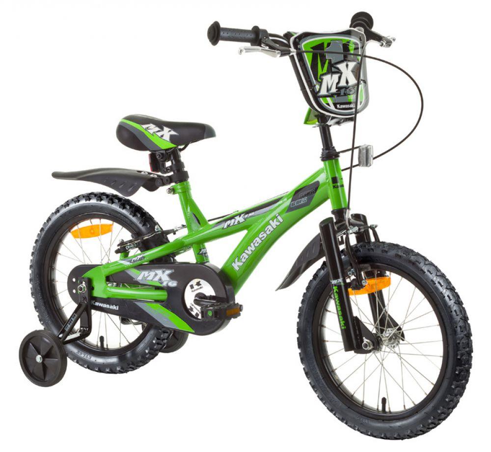kinderfahrrad kawasaki mx 16 dirt 16 zoll kinder fahrrad. Black Bedroom Furniture Sets. Home Design Ideas