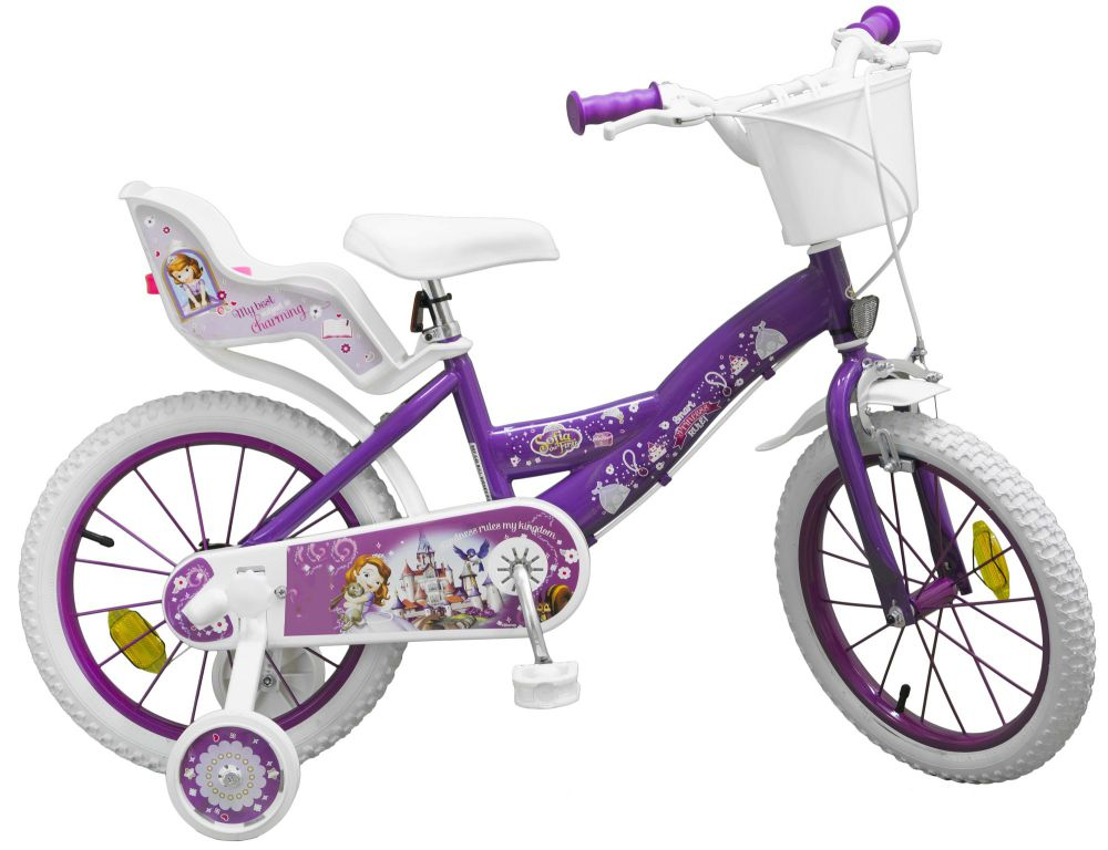 kinderfahrrad disney prinzessin sofia 16 zoll kinder m dchen fahrrad puppensitz ebay. Black Bedroom Furniture Sets. Home Design Ideas