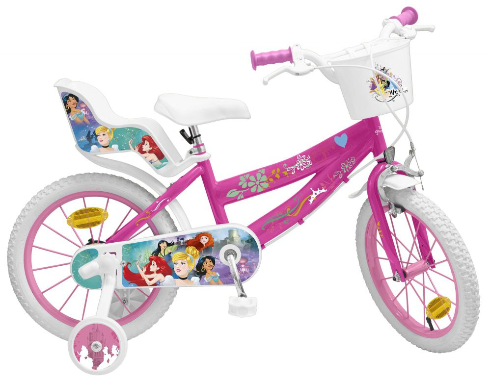 kinderfahrrad disney princess 16 zoll fahrrad prinzessin. Black Bedroom Furniture Sets. Home Design Ideas