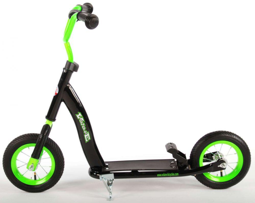 roller volare 10 zoll schwarz gr n kinder scooter. Black Bedroom Furniture Sets. Home Design Ideas