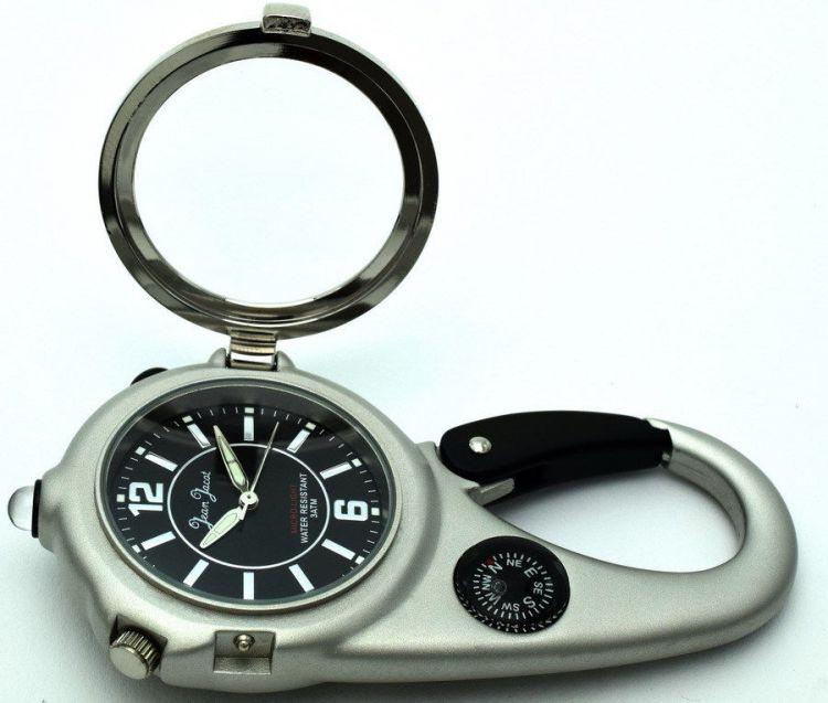 jean jacot taschen g rteluhr mit licht lupe kompass u. Black Bedroom Furniture Sets. Home Design Ideas