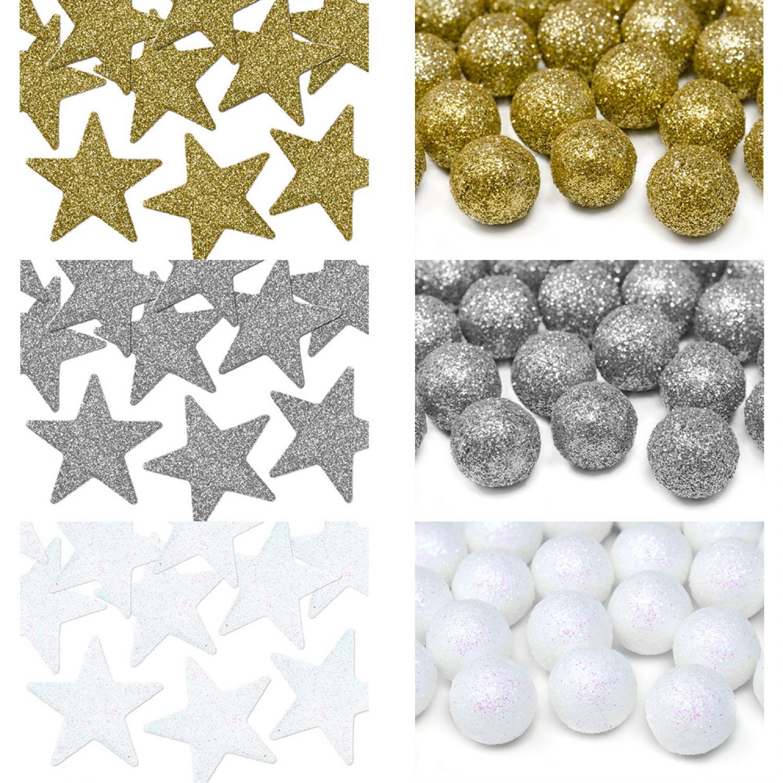 Stern Perlen Silber Eiskristall Metall Weiß Weihnachten: Glitzer Deko Stern Kugel Weihnachten Winter Advent