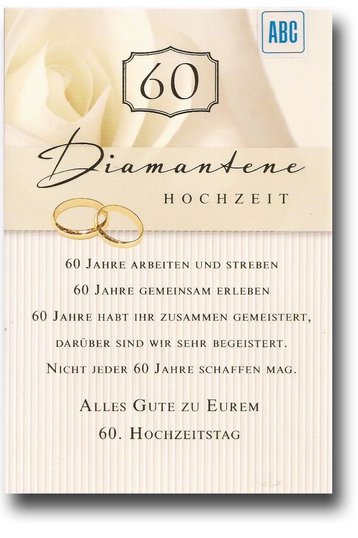 Glückwunschkarte Zur Diamantenen Hochzeit Alles Gute zu