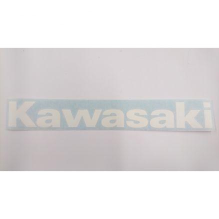 aufkleber schriftzug kawasaki weiss 33 x 4 cm ebay. Black Bedroom Furniture Sets. Home Design Ideas