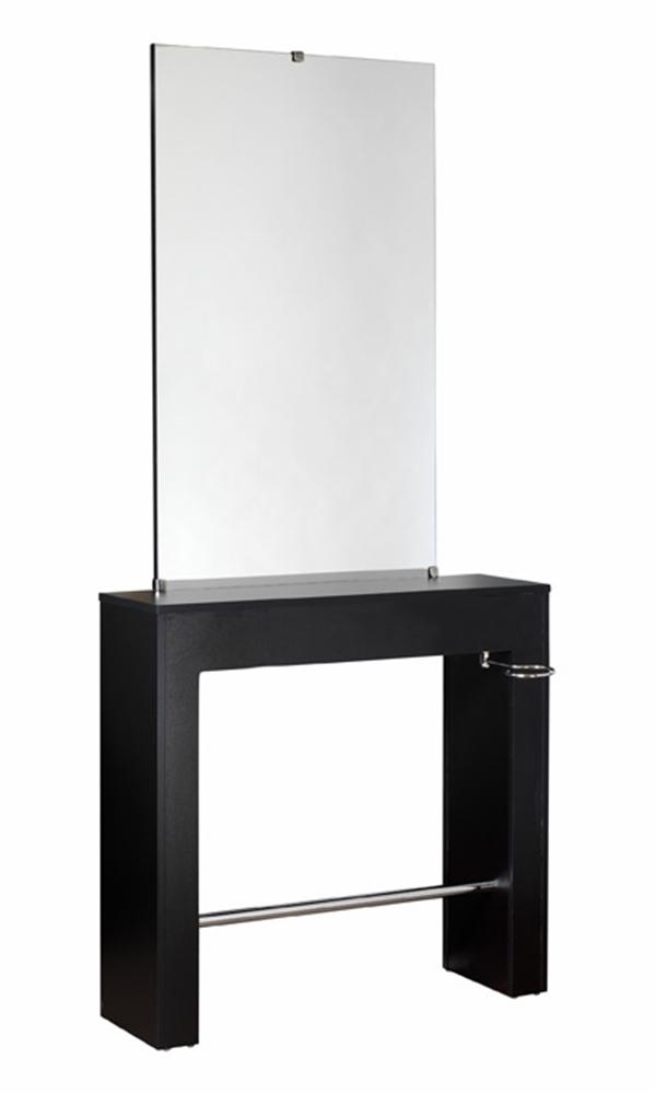 Comair bedienungsplatz swiss schwarz spiegel friseur frisierplatz coiffeur salon ebay - Spiegel salon ...