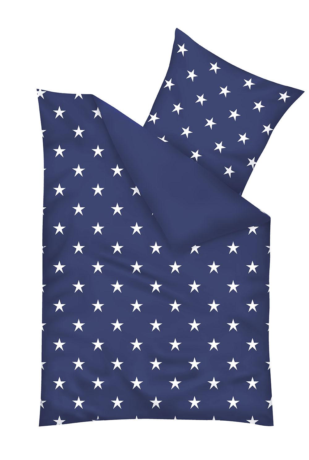 wendebettw sche sterne blau 135x200 cm 80x80 cm baumwolle ebay. Black Bedroom Furniture Sets. Home Design Ideas