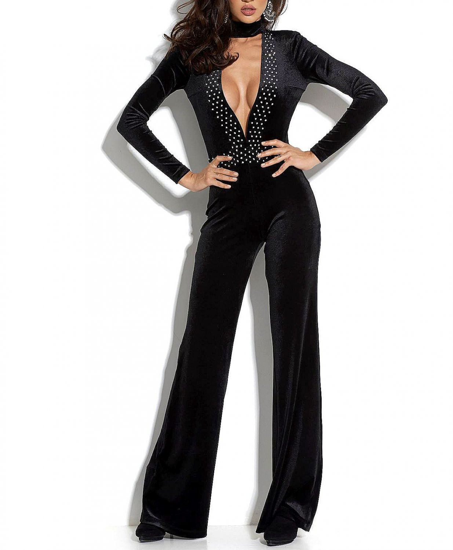 by alina damen overall einteiler catsuit sexy jumpsuit. Black Bedroom Furniture Sets. Home Design Ideas