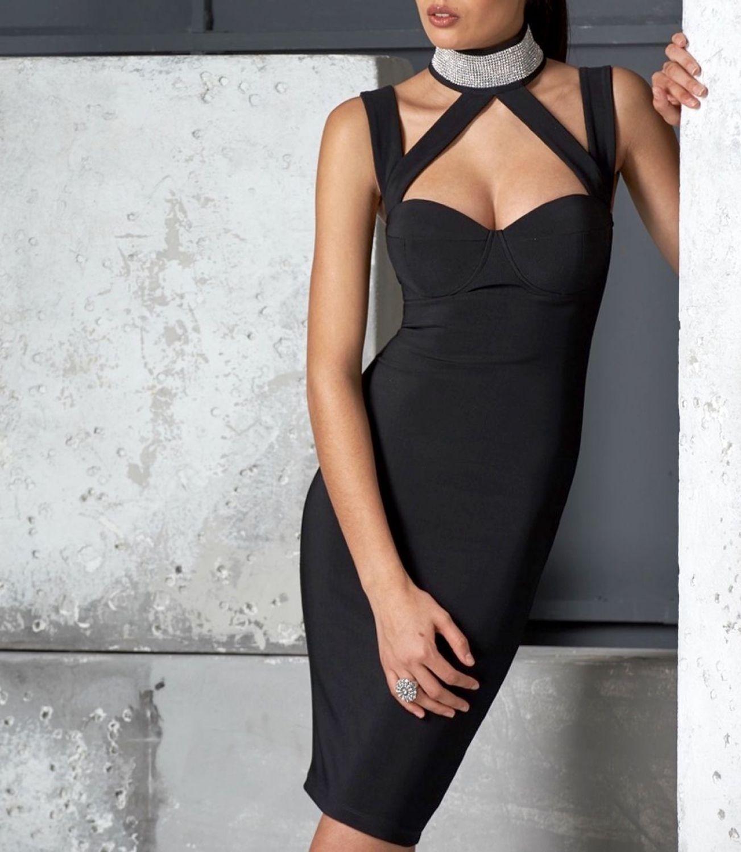 By Alina Damenkleid Partykleid Elegantes Abendkleid Minikleid black ...