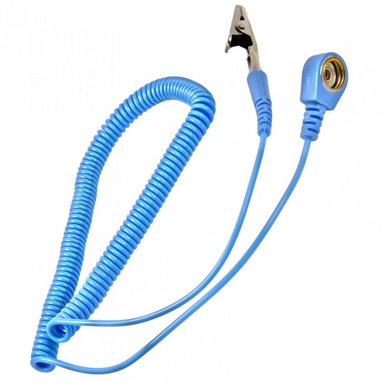 Minadax® Antistatikmatte XXL 60 x 80 cm Blau, 4 Anschlüsse, Armband ...
