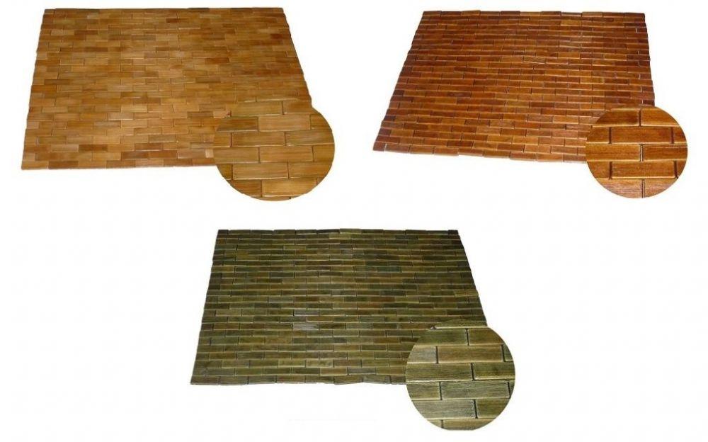 Tapis De Bain Meuble En Bambou Teck Bois Sauna D 39 Entr E Wc