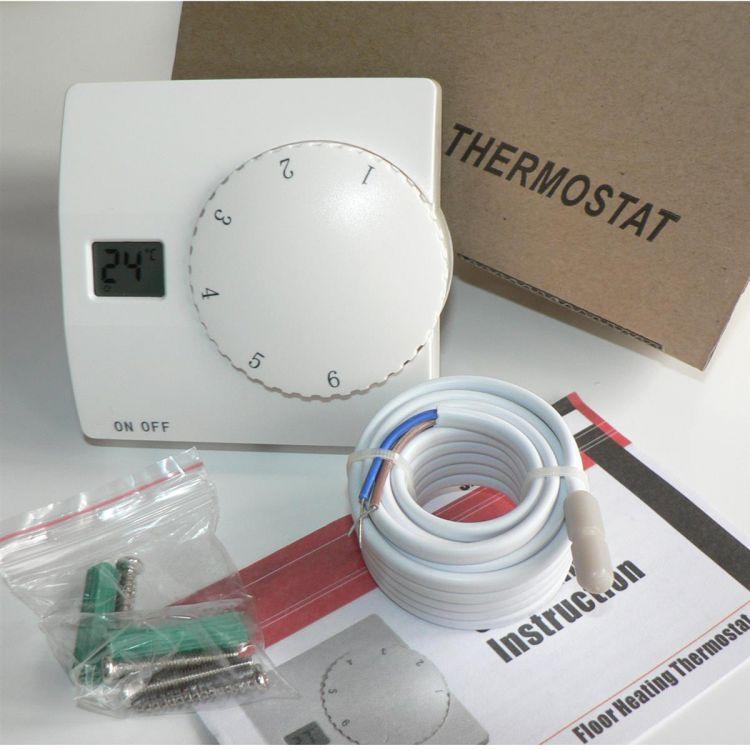 digital aufputz thermostat sas816 m bodenf hler fu bodenheizung raumthermostat ebay. Black Bedroom Furniture Sets. Home Design Ideas