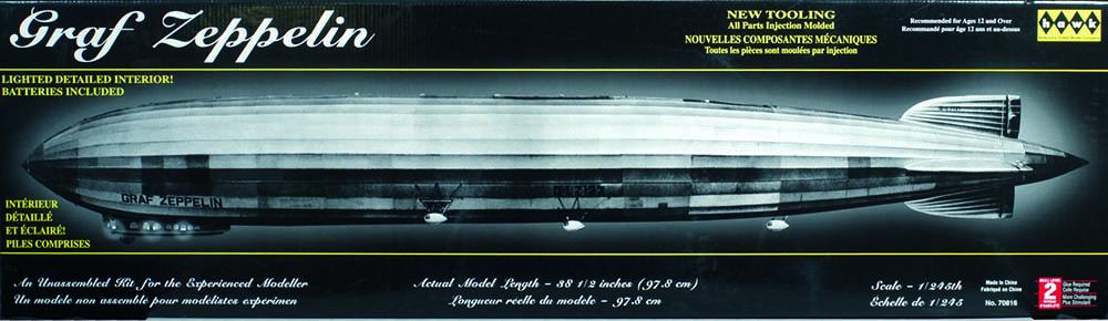 graf zeppelin luftschiff lz 127 airship 1 245 model kit lindberg hawk 70816. Black Bedroom Furniture Sets. Home Design Ideas