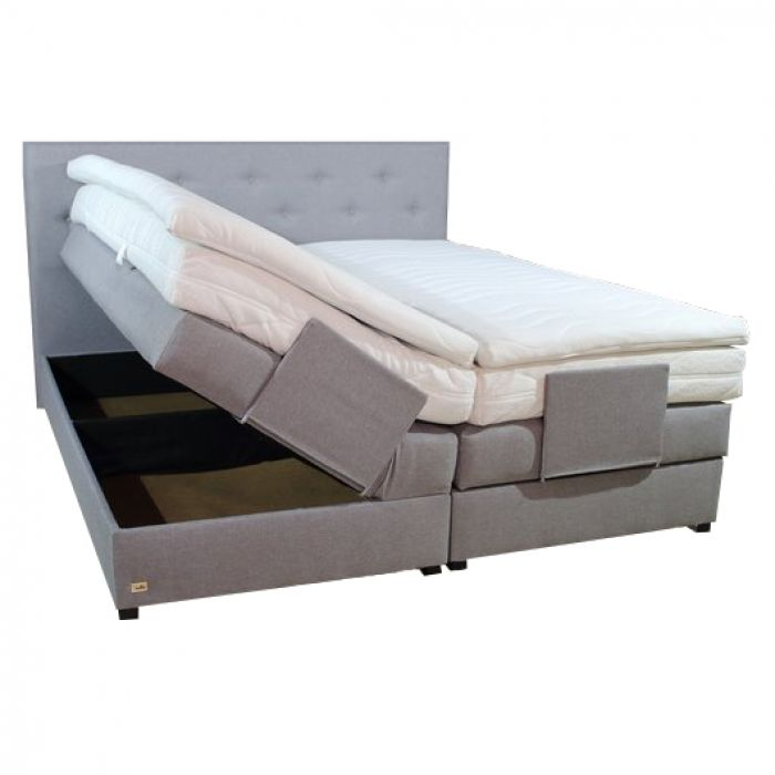 boxspringbett mit bettkasten taschenfederkern 160x200 farbwahl matratze h2 h3 h4 ebay. Black Bedroom Furniture Sets. Home Design Ideas