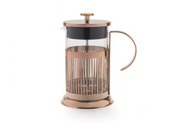 kaffeebereiter french press kupfer 800ml leopold edelstahlfilter kaffeepresse ebay. Black Bedroom Furniture Sets. Home Design Ideas