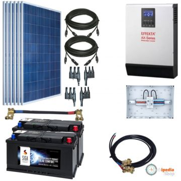 1500watt pv solaranlage hybrid set mit 2 akku speicher 2000 watt ac leistung ebay. Black Bedroom Furniture Sets. Home Design Ideas