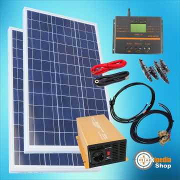 500 watt insel solaranlage 12 volt photovoltaikanlage. Black Bedroom Furniture Sets. Home Design Ideas