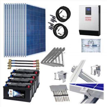 3kw 3000w solaranlage hybrid set 4 akku speicher f r. Black Bedroom Furniture Sets. Home Design Ideas