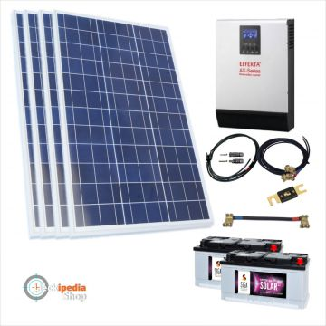 1000 watt pv anlage solaranlage hybrid set mit akku. Black Bedroom Furniture Sets. Home Design Ideas