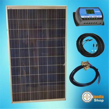 220 watt 12 volt insel solaranlage basis set mit w hlbarem. Black Bedroom Furniture Sets. Home Design Ideas